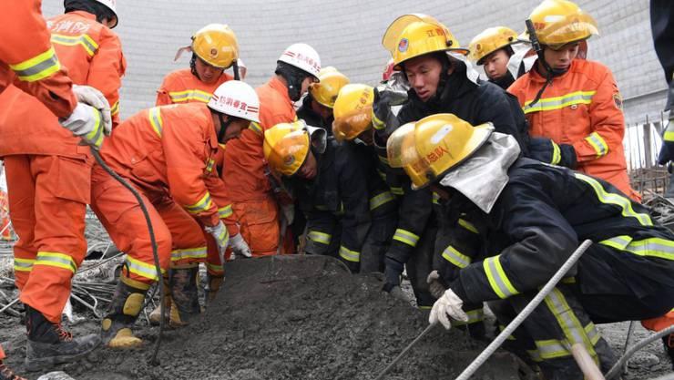 74 Menschen starben beim Baustellenunglück in China - nun wurde die Suche nach weiteren Opfern eingestellt. (Aufnahme vom 24. November 2016)