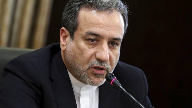 Abbas Araghchi, der iranische Vizeaussenminister und einer der Hauptunterhändler in den Atomverhandlungen, bewertete die Gespräche mit dem französischen Gesandten Emmanuel Bonne als positiv. (Archivbild)