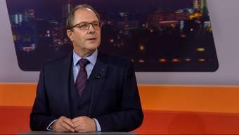 Adrian Schmitter am Dienstagabend in der Sendung TalkTäglich bei Tele M1.
