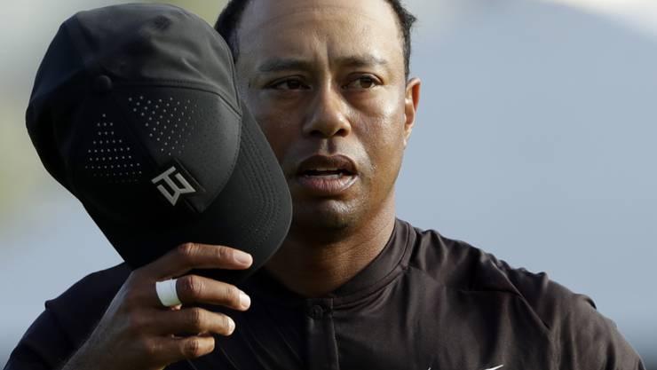 Tiger Woods kann die Mütze nach der Runde einigermassen zufrieden abnehmen