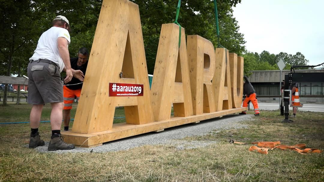 Der «Aarau»-Schriftzug landet wieder im Schachen