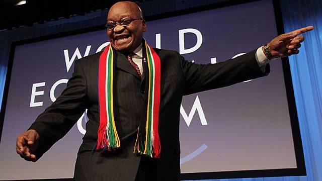 Verteidigt Polygamie: Jacob Zuma am WEF in Davos