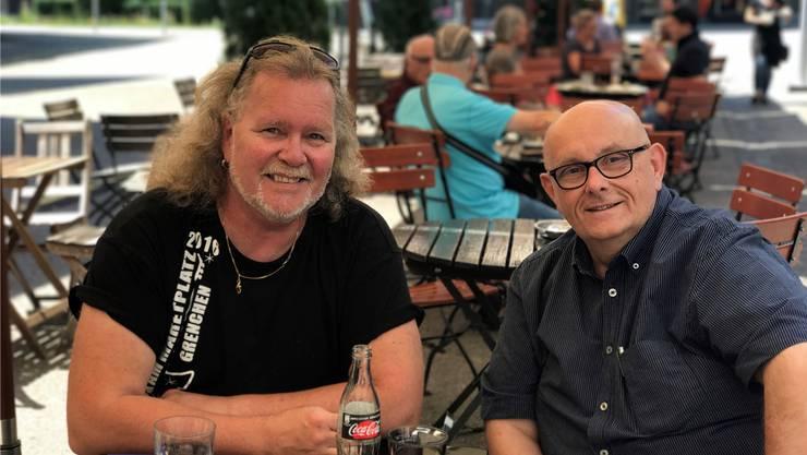 Kurt Gilomen (l.) und Dagobert Cahannes wollen die Gespräche 2021 nachholen. (Archiv)