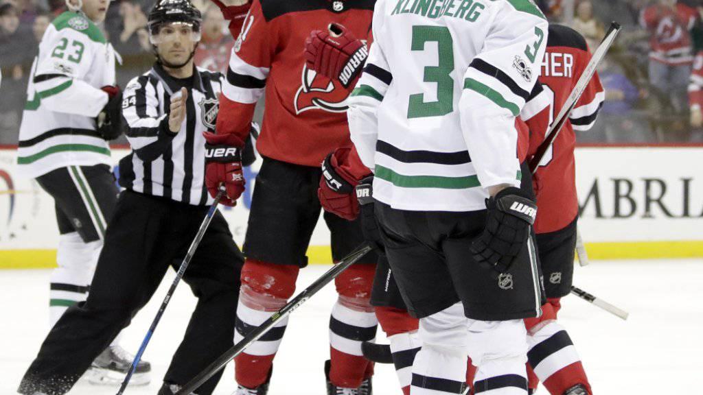 Traf gegen die Dallas Stars zweimal für die New Jersey Devils: Brian Boyle (Mitte, mit Schnauz)