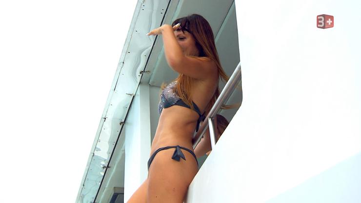 Dort ging es dann zum Baden. Elena (Dietikon) getraute sich jedoch nicht ins Wasser.