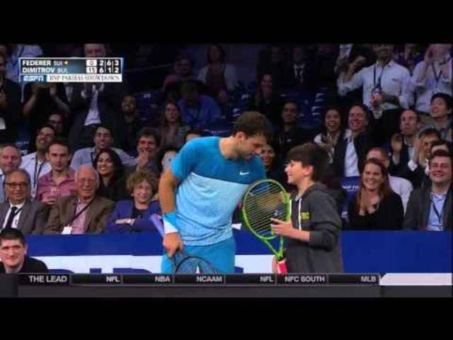 Junger Roger-Fan überlobt sein Idol Federer
