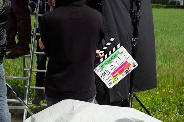 Die berühmte Filmklappe : Sie kommt öfters zum Einsatz.