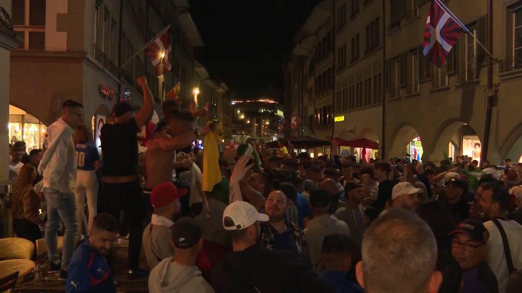 Nach EM-Sieg: Hunderte Italien-Fans feiern in Bern