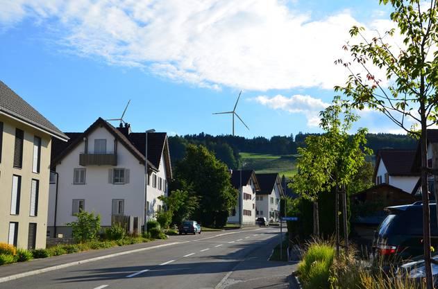 Sicht vom Restaurant Rössli in Beinwil.