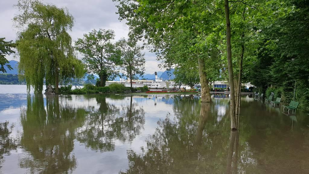 In Stansstad wurde das Dorfzentrum geflutet