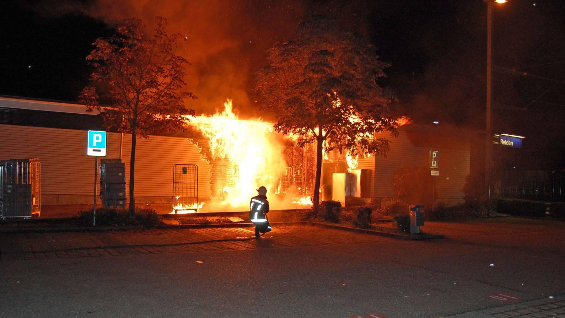 Der «Feuerteufel von Reiden» muss sich heute vor Gericht verantworten.