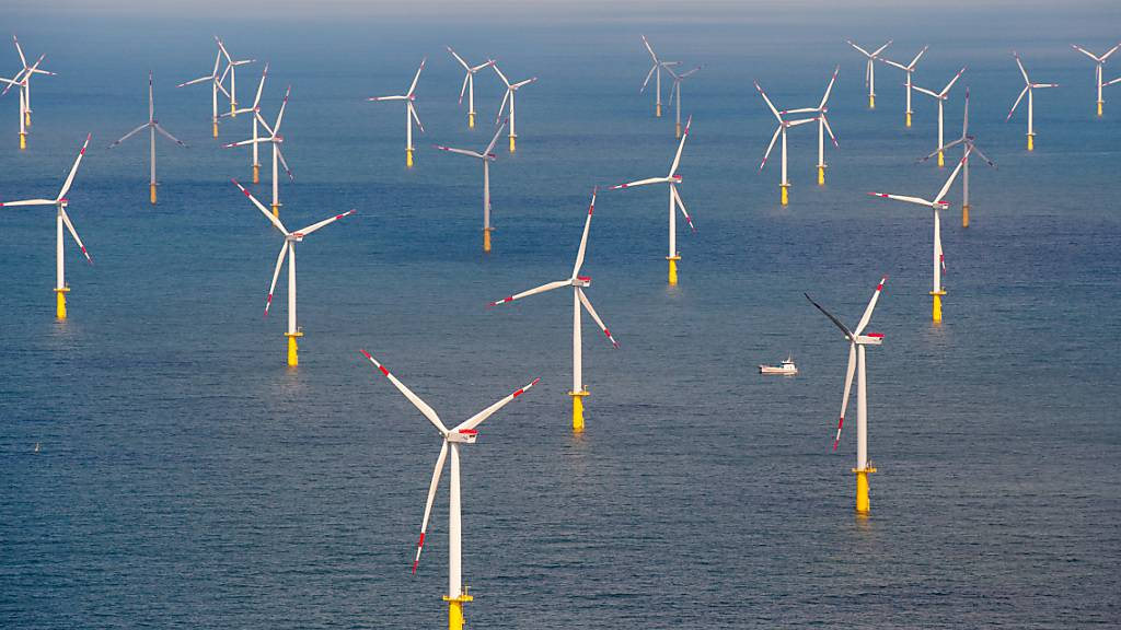 Ein neuer Offshore-Windpark soll den Chemiestandort Ludwigshafen des deutschen BASF-Konzerns ab 2030 mit Energie versorgen - im Bild der Windpark Butendiek vor der Nordsee-Insel Sylt. (Archivbild)