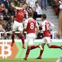 Granit Xhaka nach seinem Freistosstor gegen Newcastle United