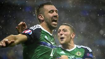 Die Nordiren nahmen 2016 erstmals an einer EM teil und jubelten dabei über einen 2:0-Sieg gegen die Ukraine.