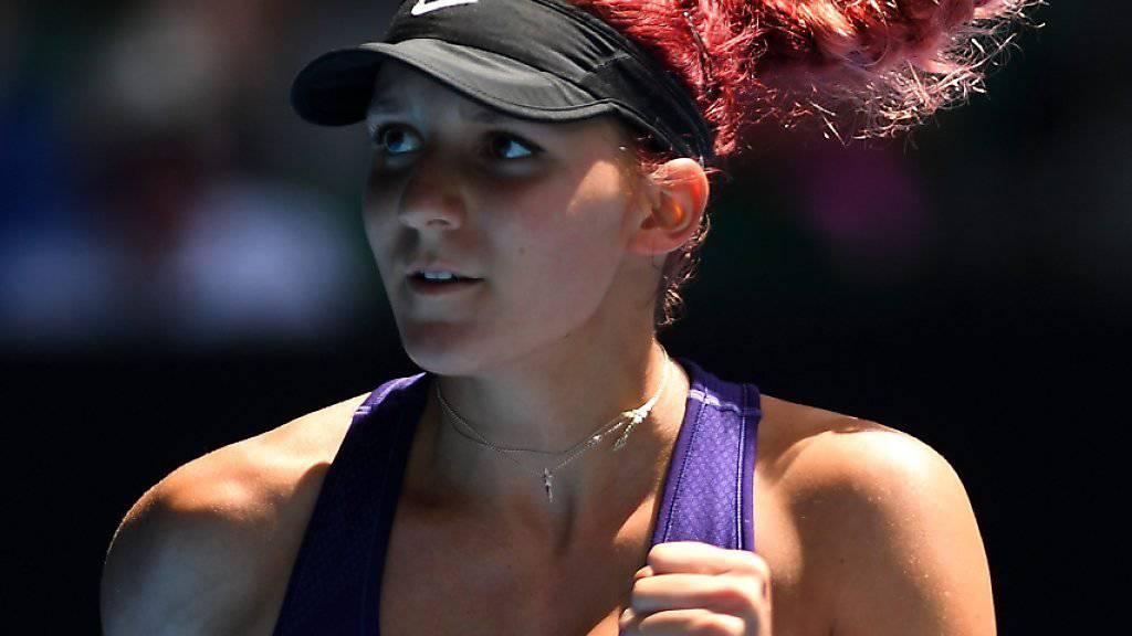 Rebeka Masarova - im Bild während des Finals am Australian Open - hat eine Wildcard für das Turnier in Biel erhalten