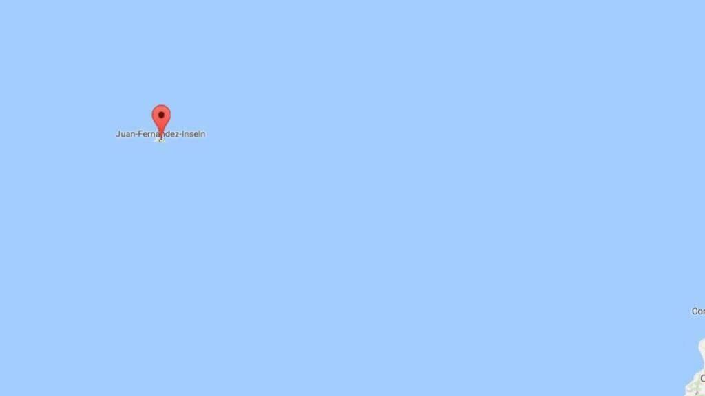 Das Juan-Fernández-Archipel, wo die Schutzzone eingerichtet wird, liegt 670 Kilometer vor der chilenischen Küste. (Bild googlemaps)