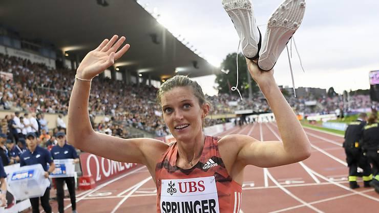 Trotz europäischer Saisonbestleistung ist Lea Sprunger mit ihrem Auftritt in Lausanne nicht vollends zufrieden