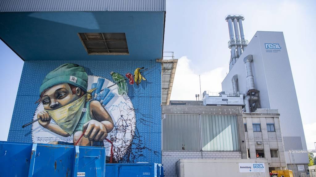 Graffiti bei KVA