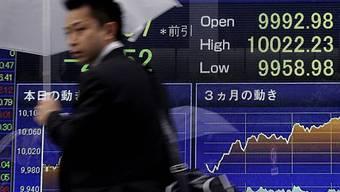 Die Börse in Tokio schliesst fest
