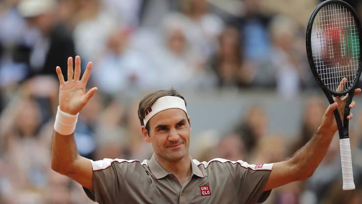 Roger Federer steht am French Open in der zweiten Runde.