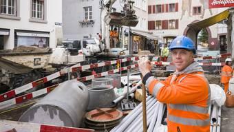 Polier Andreas Leutenegger hielt neun Monate lang die Fäden auf der Riesen-Baustelle zusammen und erhält nur Lob.