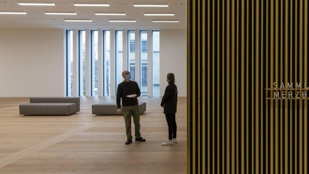 Geradlinige Architektur des Büros David Chipperfield Architects und eine Klanginstallation des US-Choreographen William Forsythe: der Erweiterungsbau des Kunsthauses Zürich steht bis Pfingsten dem Publikum offen für einen ersten Augenschein. (Archivbild)