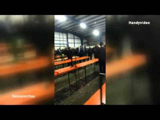 Augenzeugenvideo der Massenschlägerei in einer Flüchtlingsunterkunft in Calden.