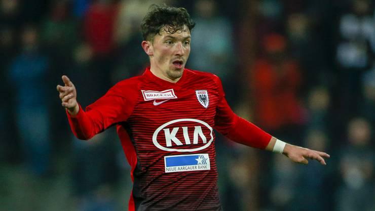 YB-Leihgabe Linus Obexer überzeugt trotz seines jungen Alters (21) als Aussenverteidiger beim FC Aarau.