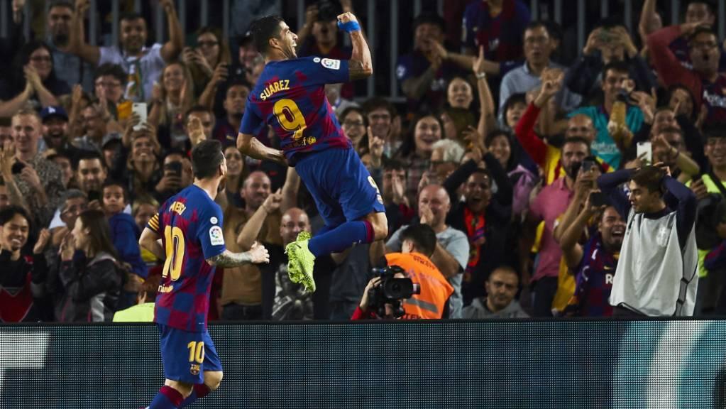 Schönes Tor, schöner Jubel: Luis Suarez leitet Barcelonas glorreiche acht Minuten ein