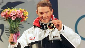 Der Snowboarder Gian Simmen konnte in der Halfpipe überzeugen und wurde Erster.