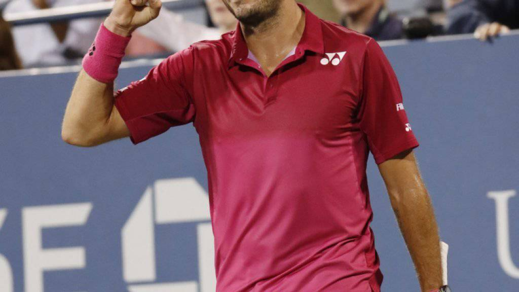 Mit Kampfgeist und Köpfchen: Stan Wawrinka steht am US Open nach einem dramatischen Fünfsatz-Sieg gegen Daniel Evans im Achtelfinal