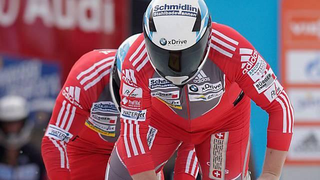 Beat Hefti und Alex Baumann auf dem Weg zum Sieg in St. Moritz.