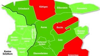 Mit Gränichen, Buchs und Küttigen machen nun drei wichtige Gemeinden nicht mit.