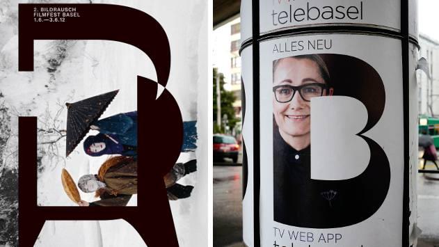 Zum Vergleich: Ein Bildrausch-Plakat (links) und jenes von Telebasel.