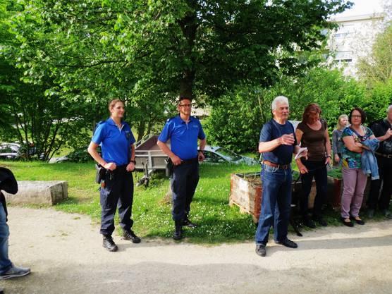 Vorstellung der Referenten Wachtmeister Herr Gilgen und Gefreite Frau Mahrer von der Polizei
