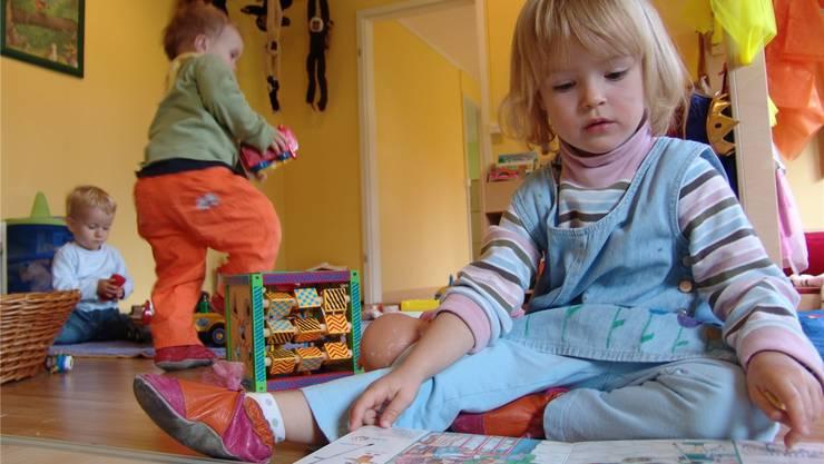 Denn Kleinen geht es richtig gut in der Kinderkrippe. (Symbolbild)