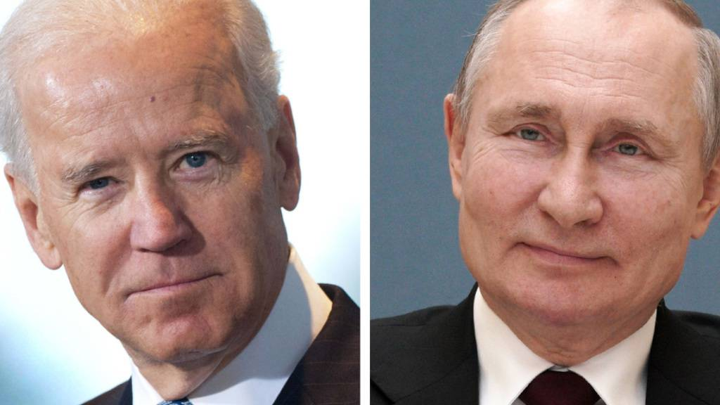 ARCHIV - KOMBO - Die Bildkombo zeigt Joe Biden, Präsident der USA, und Wladimir Putin, Präsident von Russland. Biden und Putin werden sich in Genf treffen. Es ist das erste Treffen der Präsidenten der USA und Russlands seit dem Amtsantritt von Joe Biden in Washington. Foto: Alexei Druzhinin/dpa