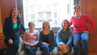 v.l.n.r: Elisabeth Ackermann (Grüne), Heidi Mück (BastA!), Raffaela Hanauer (jgb), Mirjam Ballmer (Grüne), Tonja Zürcher (BastA!).