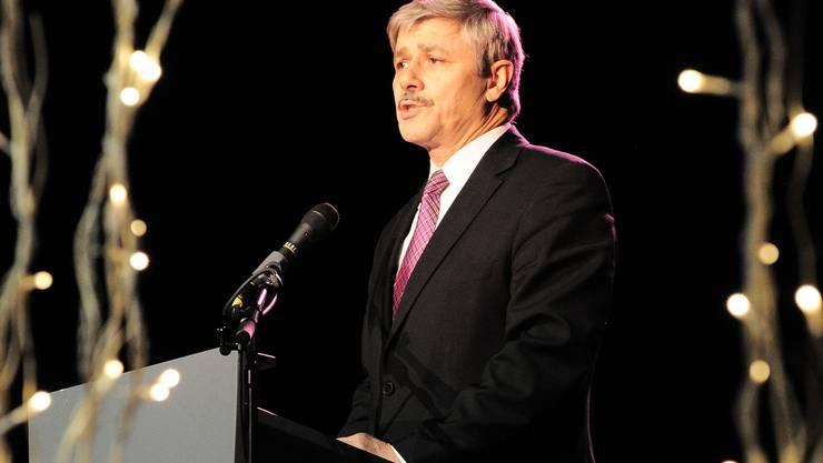 Gesundheitsdirektor Carlo Conti bei seiner Rede