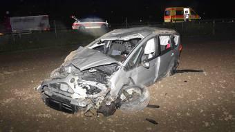 Das Fahrzeug des 22-jährigen Lenkers erlitt bei dem Unfall einen Totalschaden.