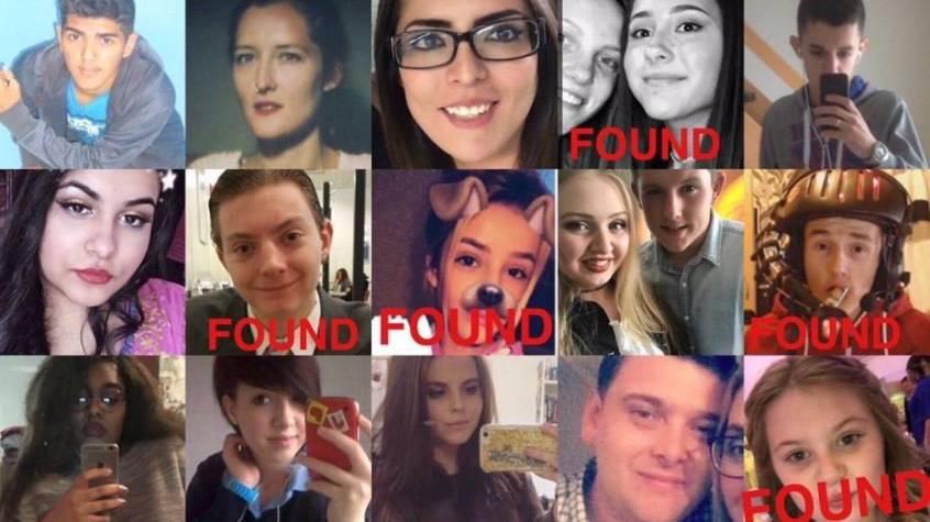 Kinder, welche noch nicht mit «found» markiert wurden, werden von der Twitter Community noch immer gesucht.
