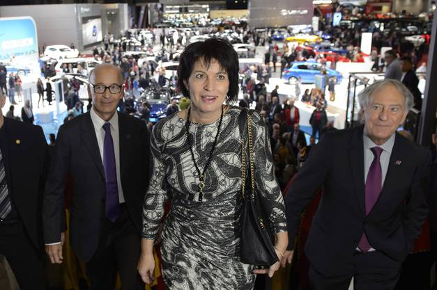 Die Bundesrätin hat den 85. Autosalon am Donnerstag eröffnet.