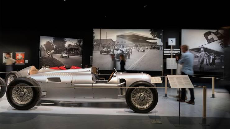 Benzin im Blut: das historische Museum Bern lässt die Zeiten der Berner Motorsportrennen im Bremgartenwald wieder aufleben.
