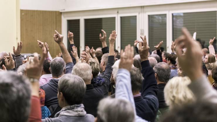 Am Donnerstagabend hatte die Stimmbevölkerung das Sagen.