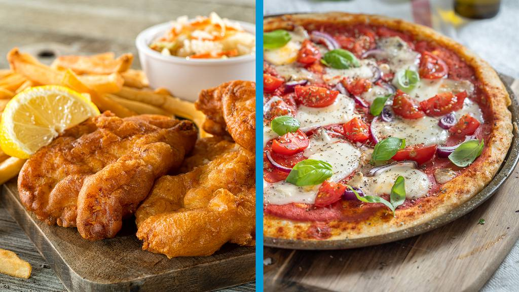 Fish and Chips oder Pizza?