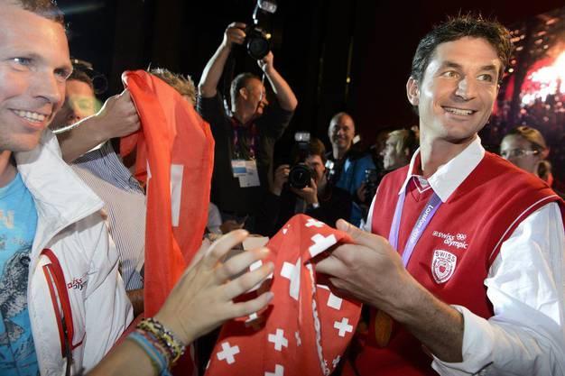 Steve Guerdat wird im House of Switzerland gefeiert