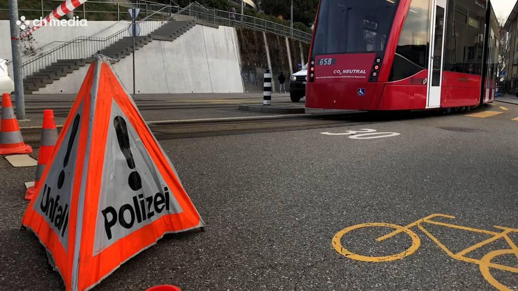 Tram erfasst Radfahrer in Bern