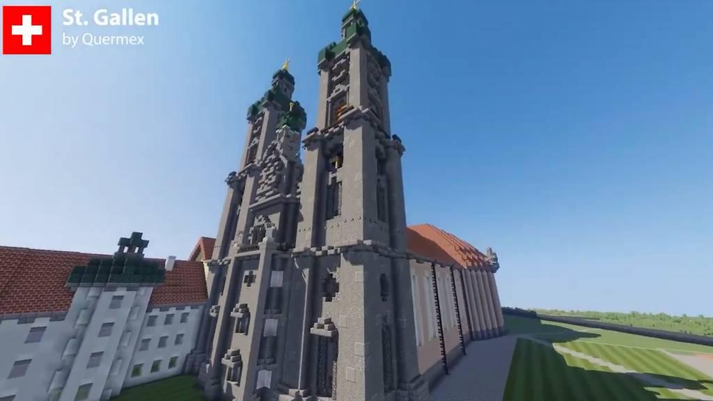 Uzwil, St.Gallen und Vaduz: Virtuelles FM1-Land auf Minecraft