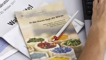 Macht das Wählen den Aargauer Stimmbürgern nicht einfach genug: Die Anleitung des Bundes.