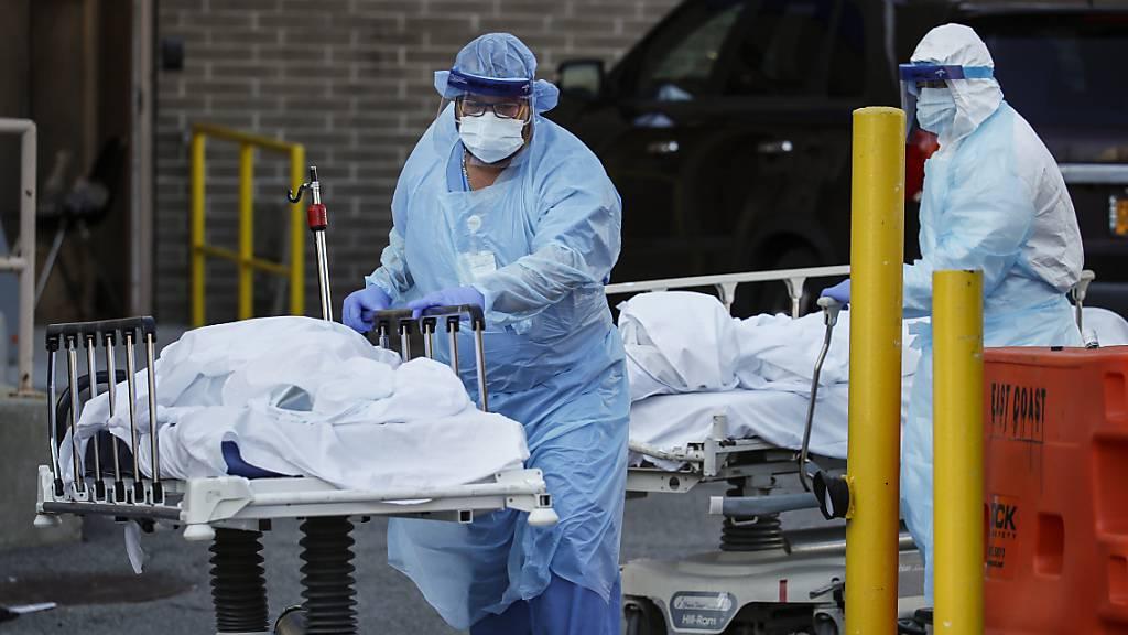 731 neue Tote in New York - Kathedrale als Not-Klinik